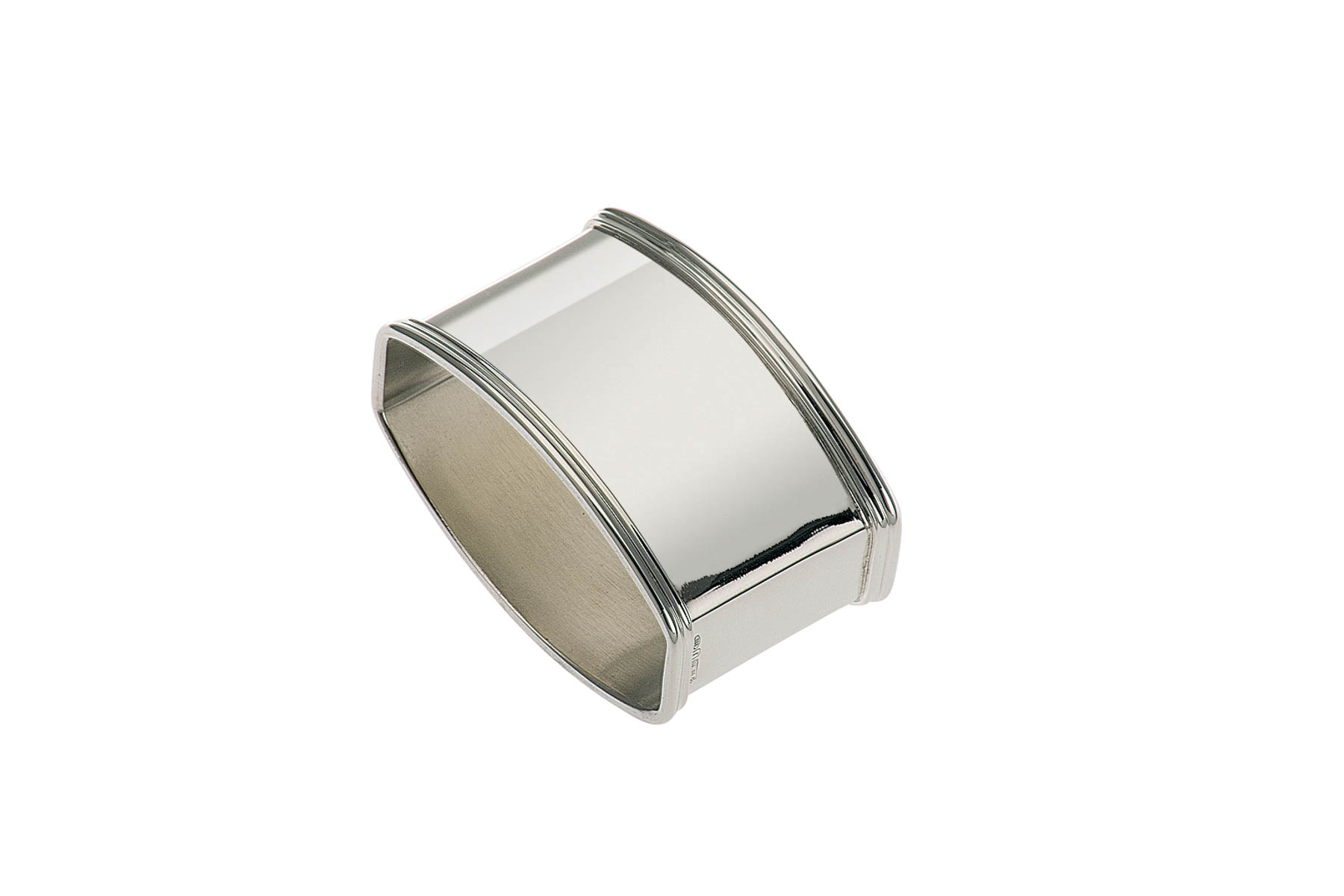 Napkin Ring plain, curved - Sterling silver