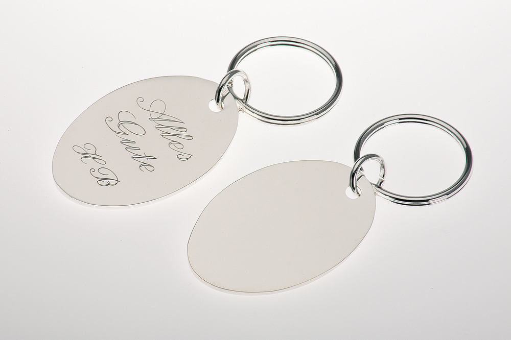 Key Chain oval plate