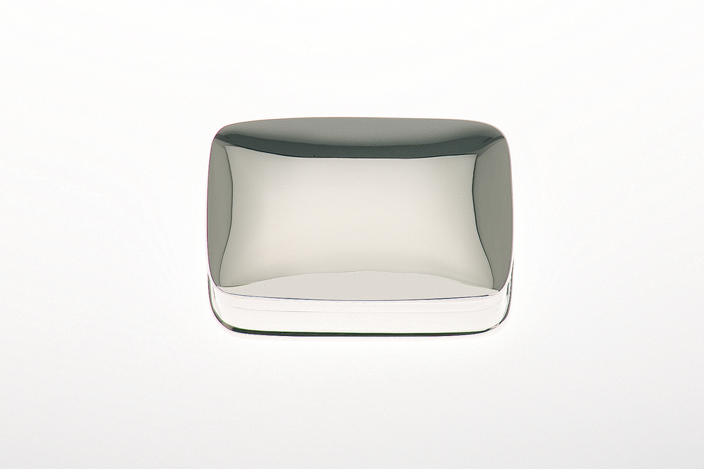 Pillbox rectangular / plain - Sterling silver