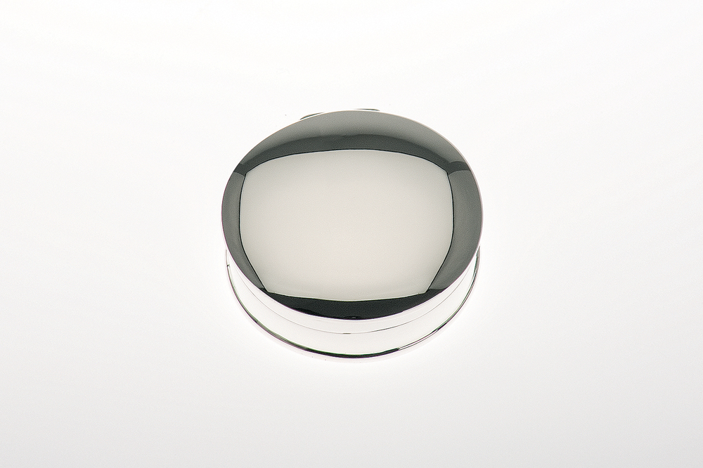 Pillbox rund / plain - Sterling silver