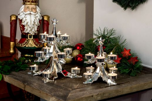 Tealight Holder Double Decker Christmas Tree