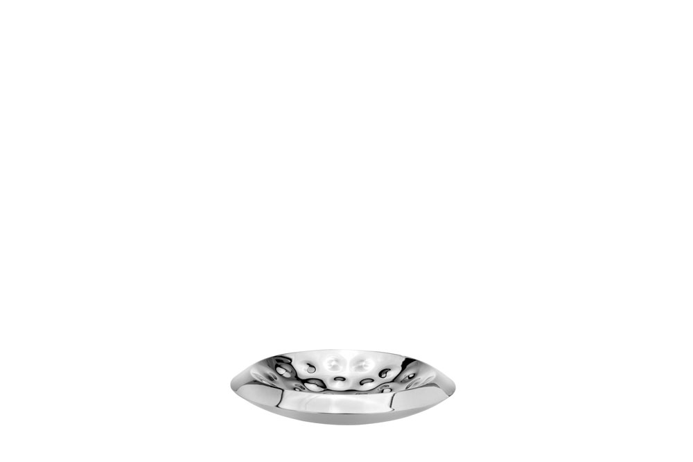 Double Wall Lotus Bowl Bolt Hammered - Stainless Steel