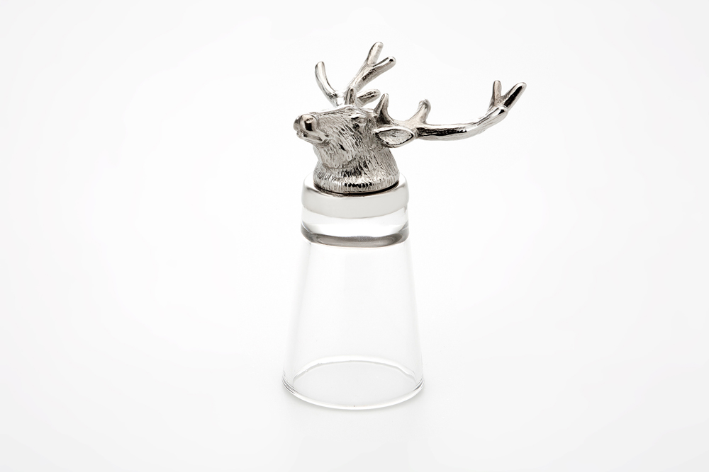 Shot Glass Stag - Stainless Steel