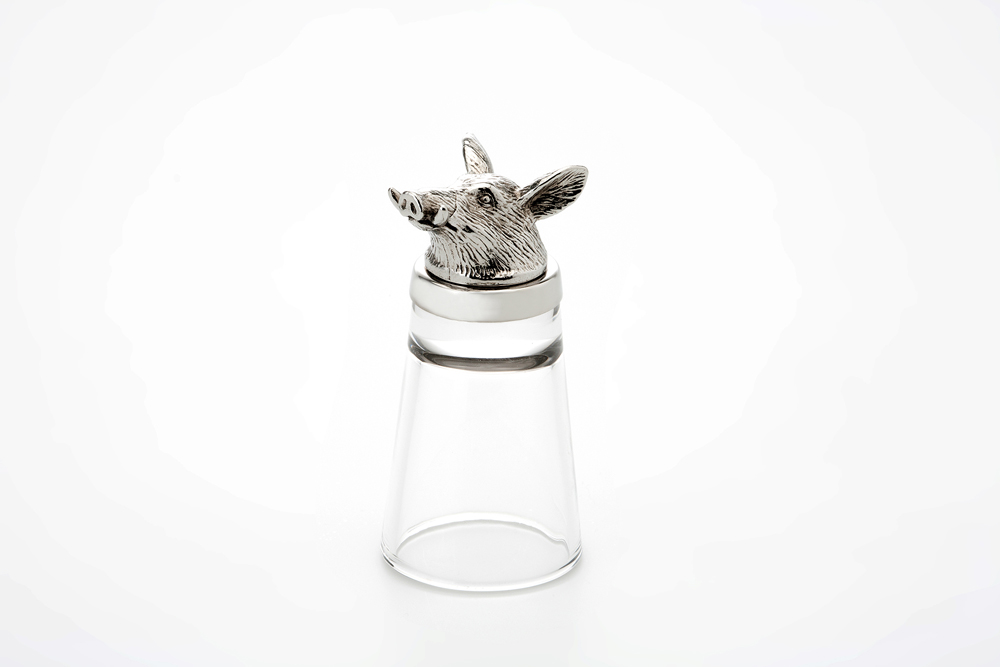Shot Glass Boar - Stainless Steel