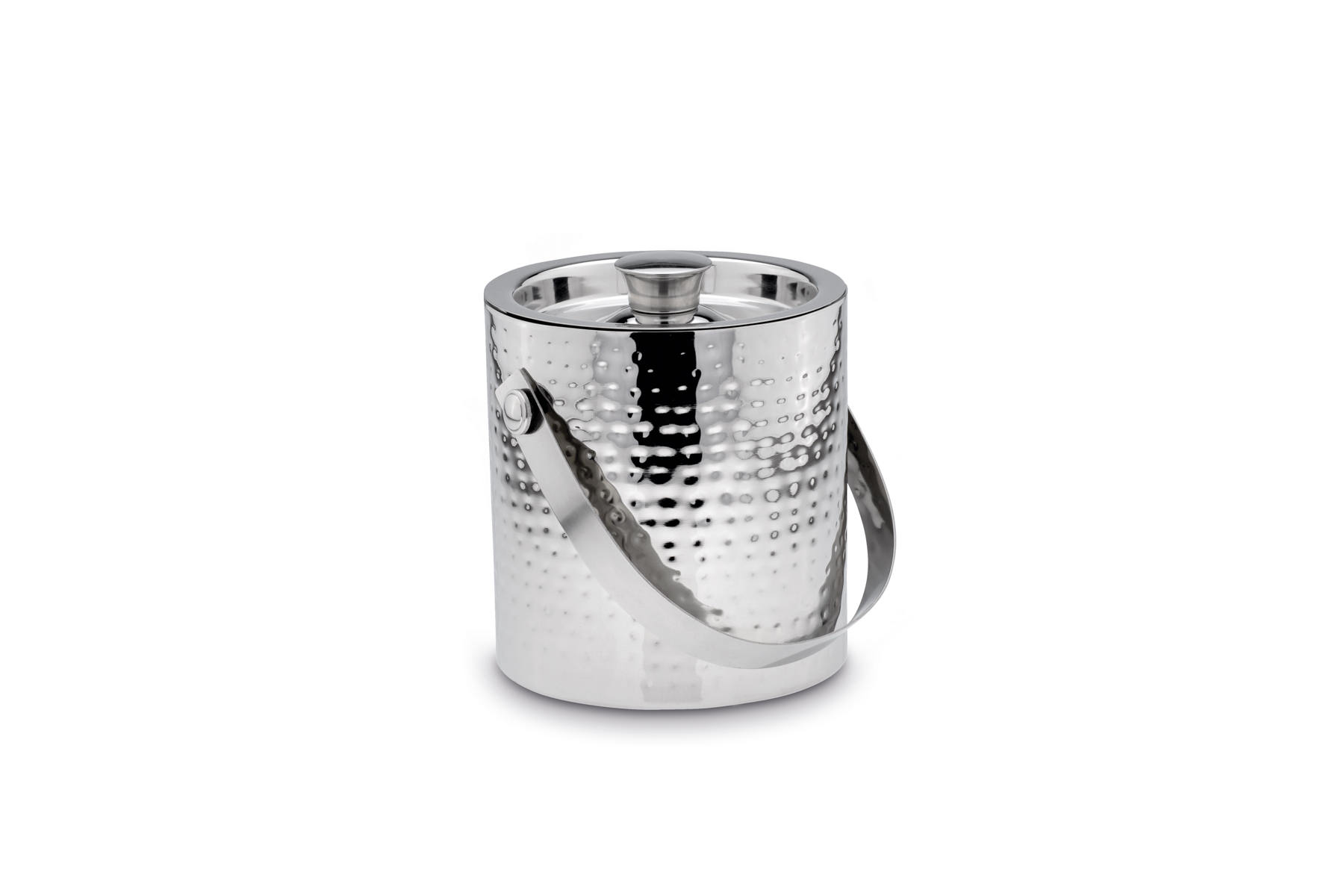 Ice Bucket with Ice Tong hammered