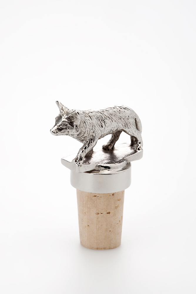 Bottle Stopper Fox - Stainless Steel
