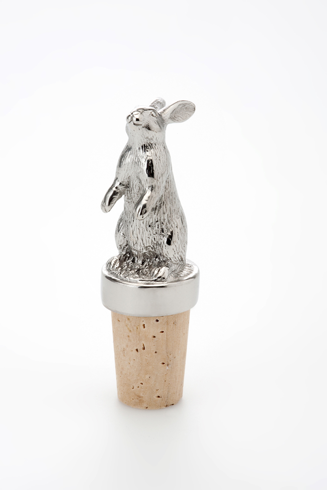 Bottle Stopper Rabbit - Stainless Steel