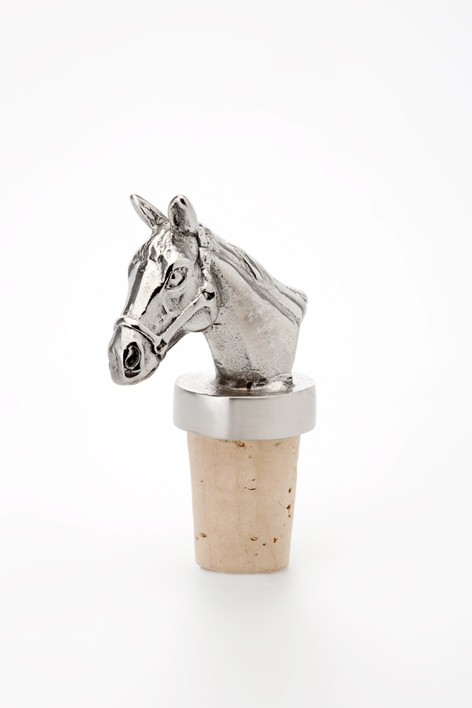Bottle Stopper Horse - Stainless Steel
