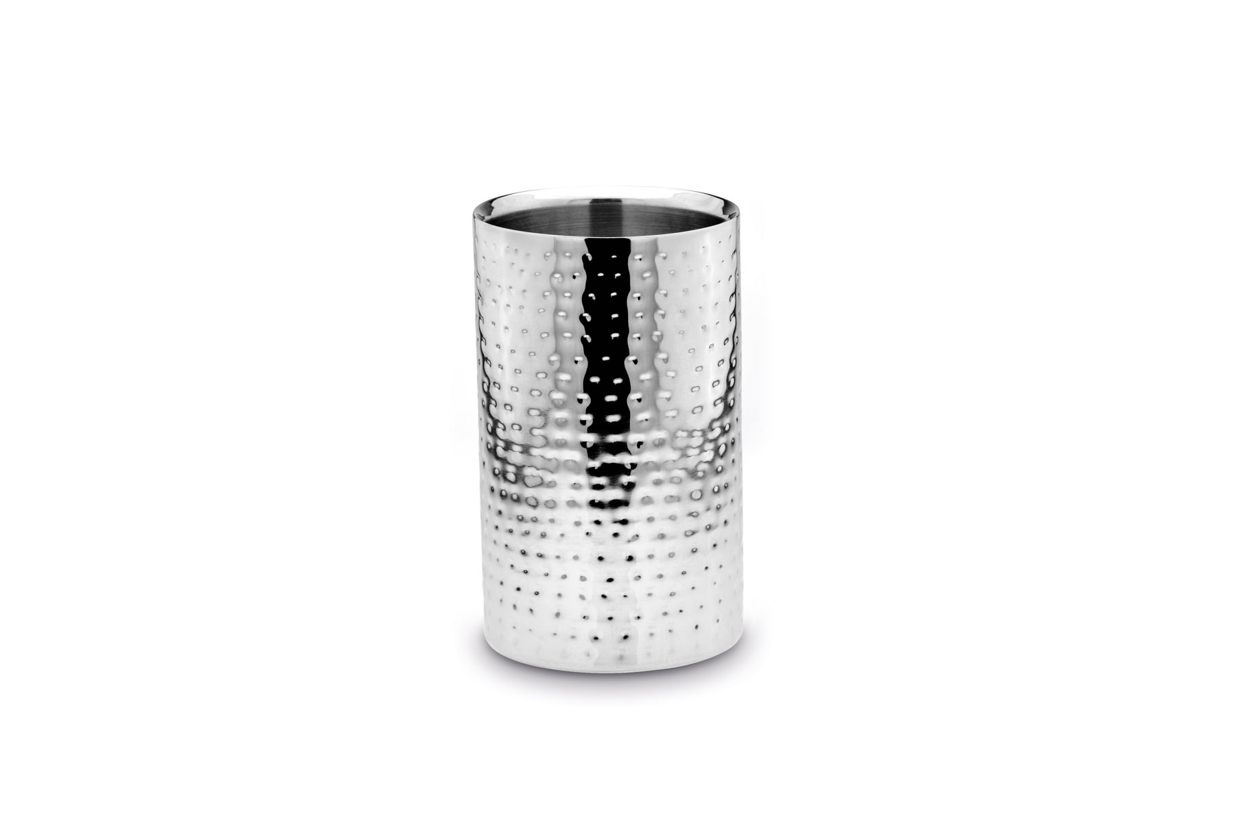 Double Wall Straight Wine Cooler hammered