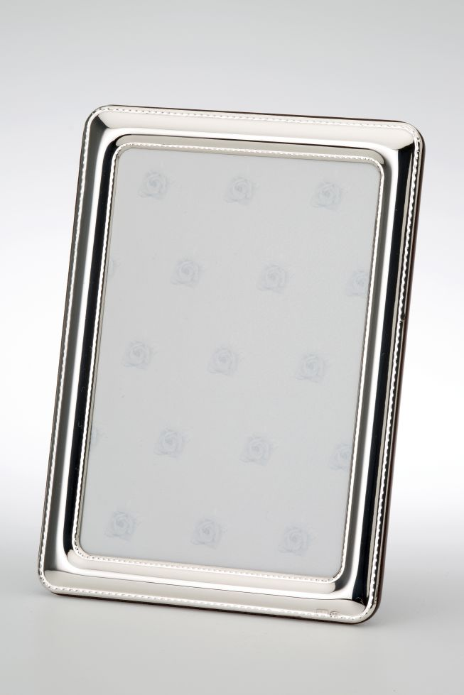 Photo Frame Pearl rim inside  outside - Sterling silver