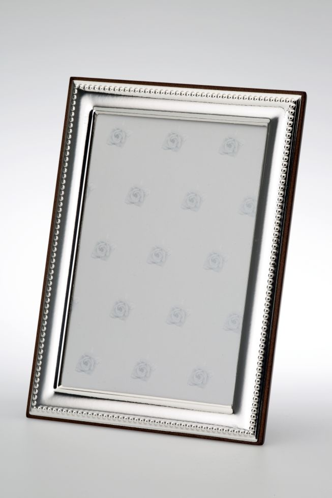 Photo Frame Pearl Rim - Sterling silver