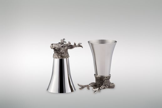 Wine Cup 1/8 Liter Deer - Stainless Steel