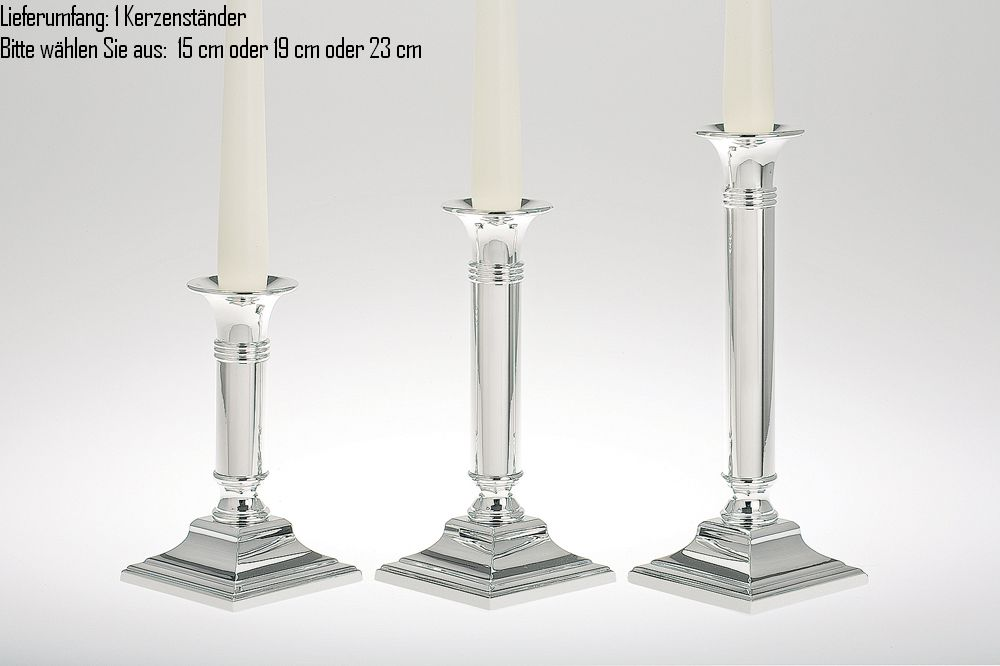 Candle Stick plain, large, square base