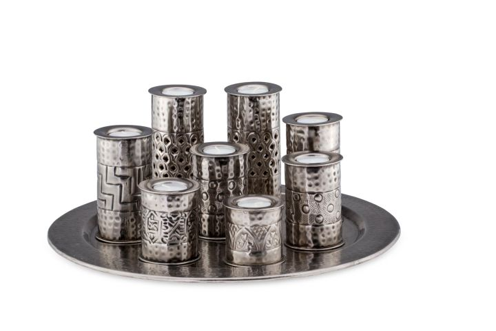 Oriental Plate-Set with Tealight Holders (9 pieces)