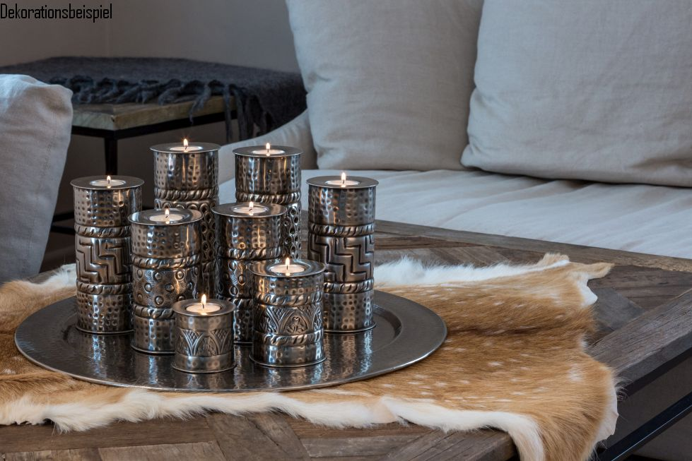 orientalisches teelicht set alexandria 9 teilig d 43cm online shop. Black Bedroom Furniture Sets. Home Design Ideas