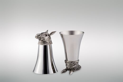Wine Cup 1/8 Liter Horse - Stainless Steel