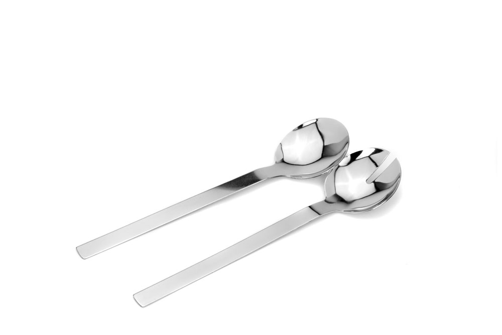 Salad Server plain - Stainless Steel