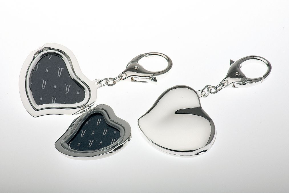 Key Chain Heart Shaped Double Frame