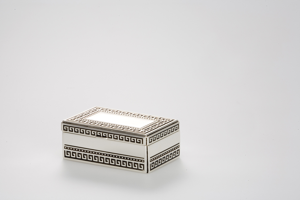 Jewelery Box Rectangular greek Pattern