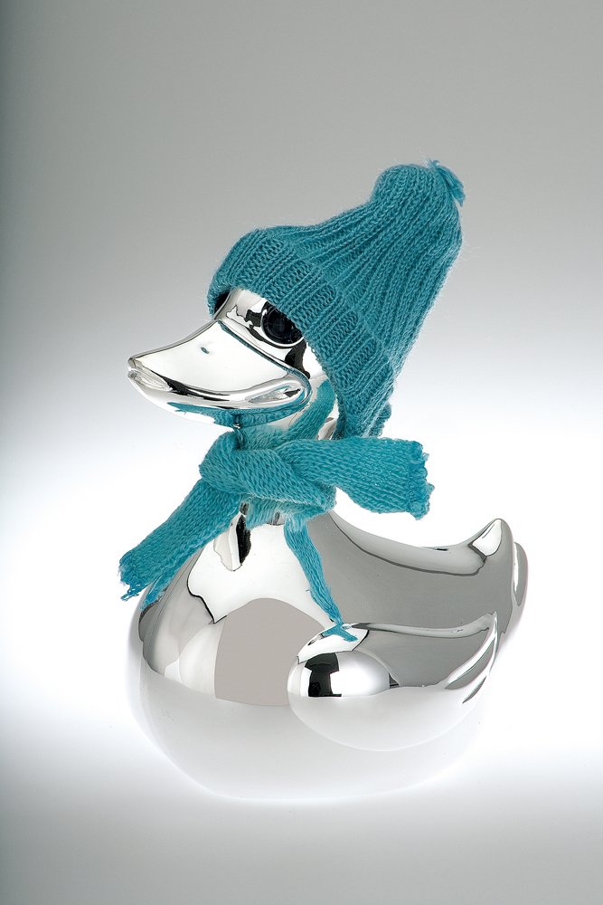 Money  Bank Duck Shape with blue & pink scarf