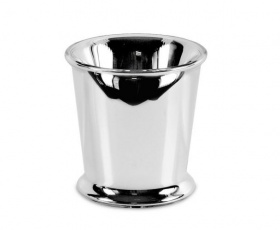 Silvered Glass Vase / Cachepot / Ice Bucket - Glass / Silver