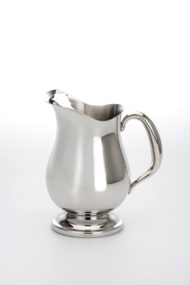 Pitcher with Hollow Hanle Stainless Steel Mirror Finish -