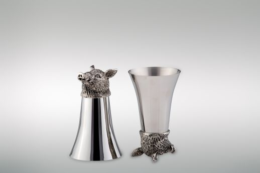 Wine Cup 1/8 Liter Wild Boar - Stainless Steel