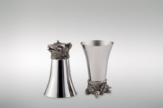 Wine Cup 1/8 Liter Wolf - Stainless Steel