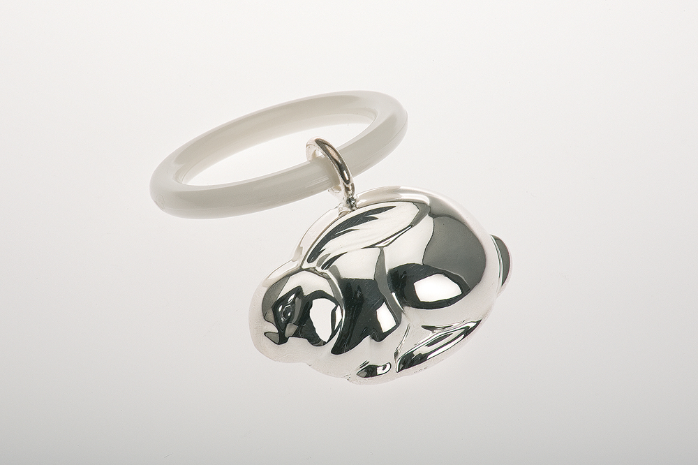 Teething Ring Rabbit Shape - Sterling silver
